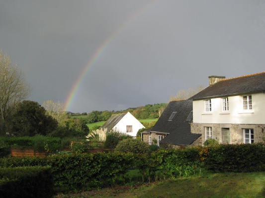 Kermorvan with rainbow